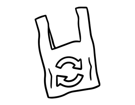 grocery bag coloring page biodegradable plastic bag coloring page coloringcrew