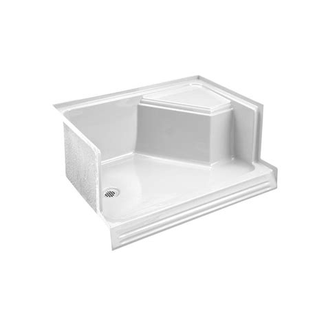 Shower Bases With Seat by Kohler Memoirs 60 In Shower Base With Integral Seat At