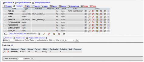 data table design 103 payroll system database design using mysql