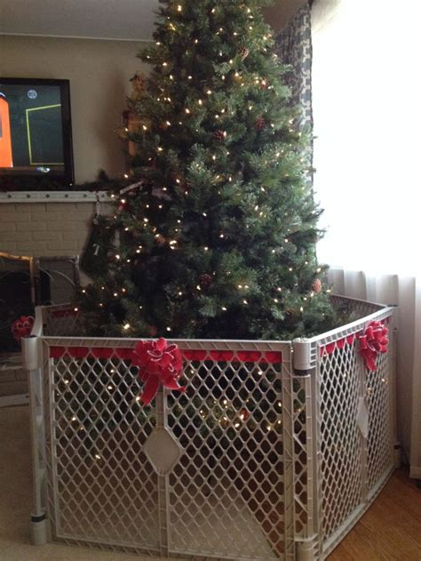 christmas tree gate how to make the baby gate around the tree less decor