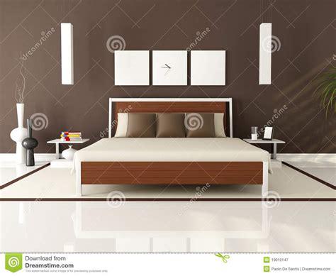 letto moderna da letto moderna brown illustrazione di stock