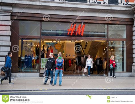 h m store in uk editorial stock photo image