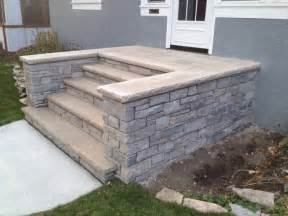 Front concrete and stone steps in minneapolis transitional landscape minneapolis by