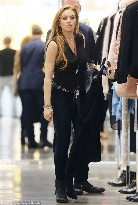 Lindsay Lohan Has A Healthy Appetite by Lindsay Lohan Looks Happy And Healthy As She Hits The