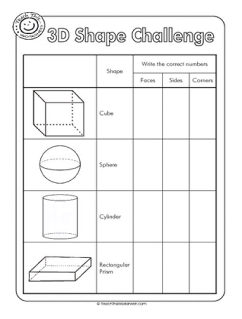 3d Shapes Worksheets by Worksheets 3d Shapes Hairstyles