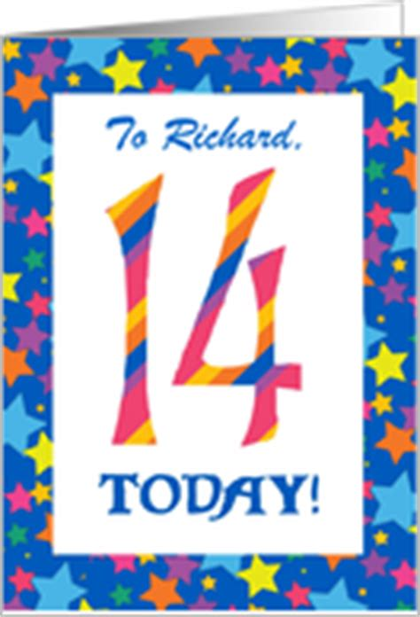 Birthday Card For 14 Year Boy 14th Birthday Cards From Greeting Card Universe
