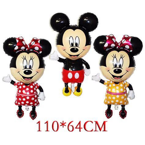Balloonable Balon Foil Mickey Minnie Mouse 110 64cm bowknot mickey minnie mouse foil balloons classic toys birthday supplies big