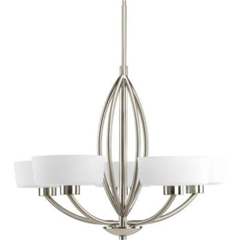 Progress Lighting Calven Collection 4 Light Brushed Nickel Bath Light P3236 09wb The Home Depot by Progress Lighting Calven Collection 5 Light Brushed Nickel Chandelier P4539 09 The Home Depot
