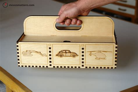 laser woodworking woodwork plywood tool box pdf plans