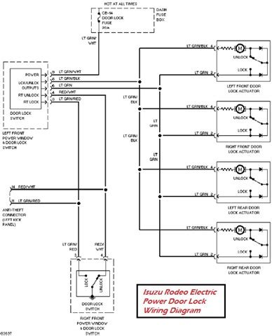 isuzu rodeo electric power door lock wiring diagram