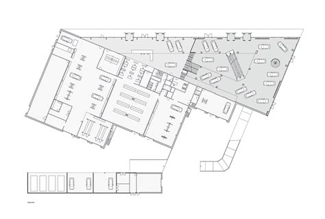 floor plan car automotive showroom in herning krads archdaily
