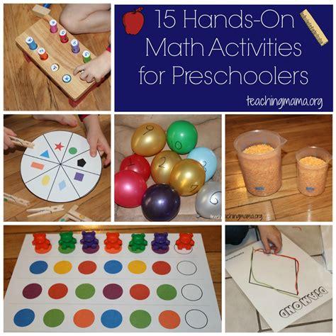 activities for preschoolers on math activities for preschoolers