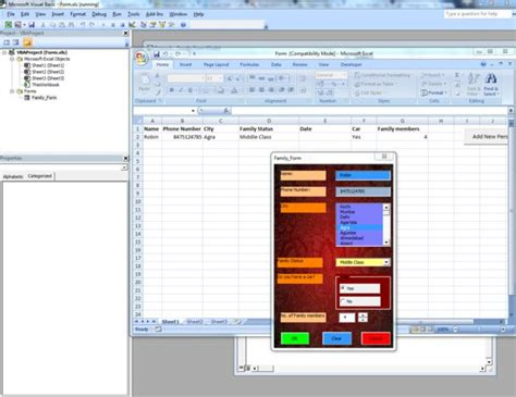 design form using excel make your own gui graphical user interface without visual