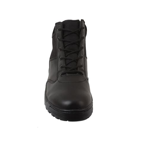 security boots security guard officer airsoft black leather patrol duty 6