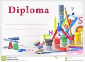 diploma preescolar fotograf 237 a de archivo imagen 25341872