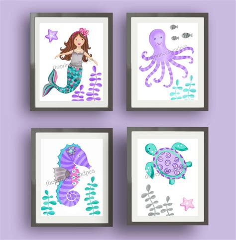 kids mermaid bathroom mermaid bathroom kids art girls bathroom art by