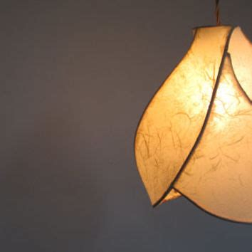 Handmade Paper Lights - pendant l the camellia copper from khalimalights on etsy