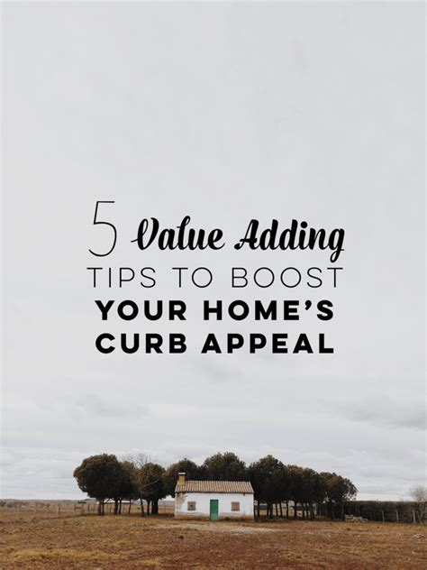 5 home value adding tips to boost your curb appeal