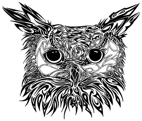 tribal owl tattoo best owl designs gallery