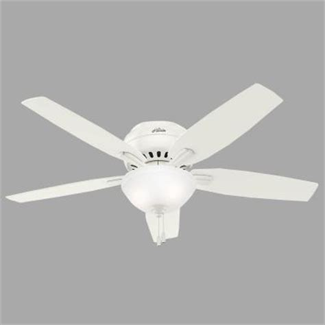 low profile white ceiling fan newsome low profile 52 in indoor fresh white bowl