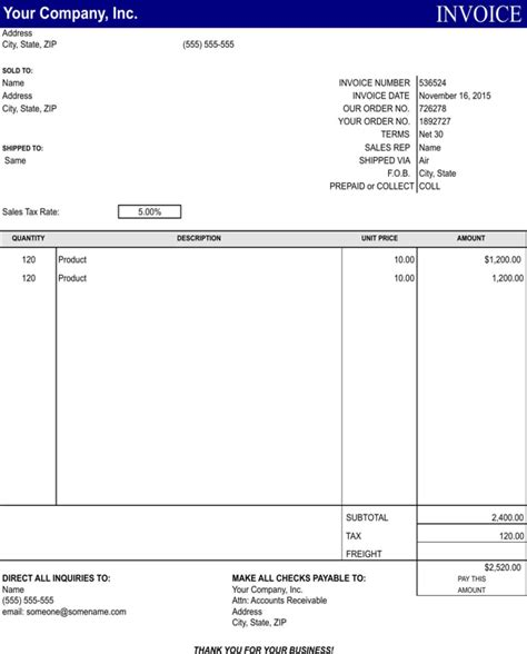 general invoice template invoice template free studio design gallery
