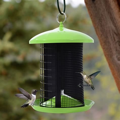 pawhut hanging bird feeder garden outdoor wild squirrel