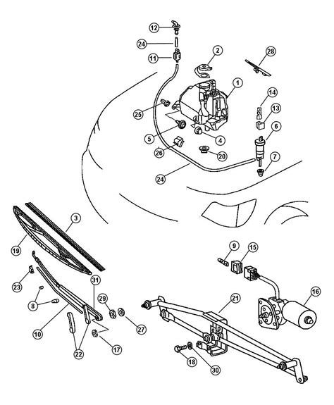 beach jeep accessories jeep patriot grommet washer reservoir wiper windshield