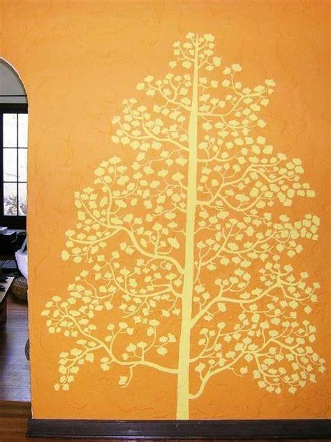 Decorazioni Pittura Pareti by Decorazione Parete Con Pittura Albero Giallo