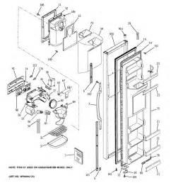 refrigerator parts ge profile side by side refrigerator parts diagram