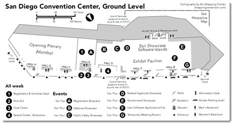 san diego convention center floor plan map orientation when true north is not at the top