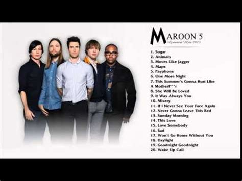 maroon 5 greatest hits cover best songs of maroon 5 best songs of maroon 5 2015 2016 hq youtube