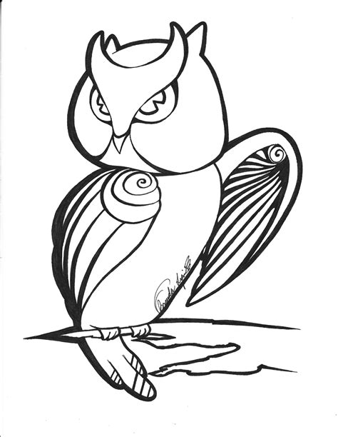 Owl Outlines Drawings by Outline Owl By Xmissbluex On Deviantart