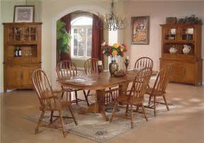 Solid Oak Dining Room Set E C I Furniture Solid Oak Dining Solid Oak Dining Table Arrowback Chair Set Dunk Bright