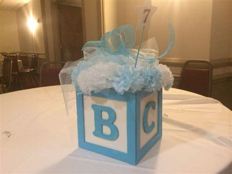 abc baby block centerpiece 8 quot x8 quot great for baby shower or