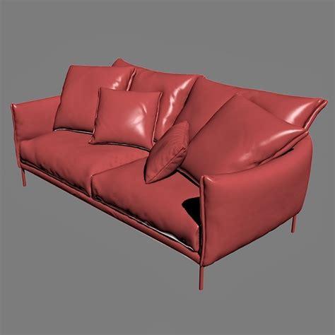 moroso gentry sofa moroso gentry ge0599 sofa 3d model max cgtrader com