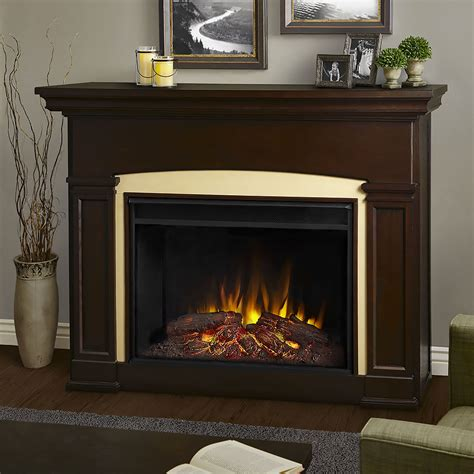 holbrook grand infrared electric fireplace mantel package