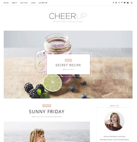 cheer up slider free blogger template 171 free google blog