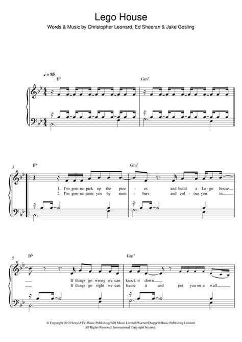 lego house music sheet lego house sheet music by ed sheeran easy piano 122622