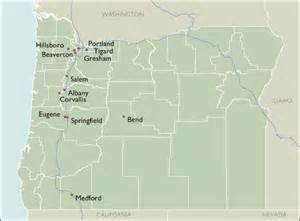 oregon city zip code wall maps