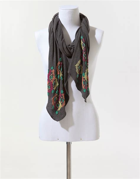 zara scarf with coloured in pink lyst