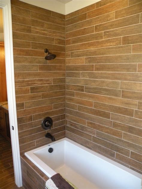 21 Best Wood Tile Shower Images On Pinterest Wood Tile Wood Look Tile Bathroom