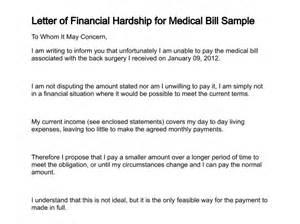 Charity Letter For Medical Bills letter of financial hardship for medical bill sample