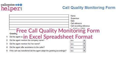 call monitoring template free call monitoring evaluation and coaching form