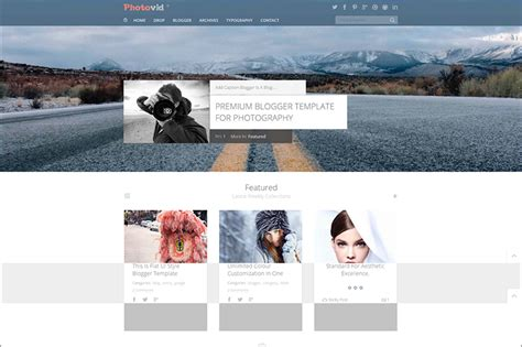 blogger templates for photography blog 14 photography blog themes free premium templates