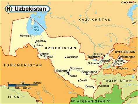 uzbekistan world map uzbekistan political map by maps from maps