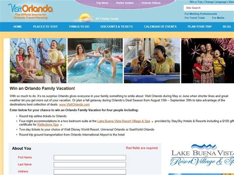 Orlando Sweepstakes - orlando family vacation sweepstakes