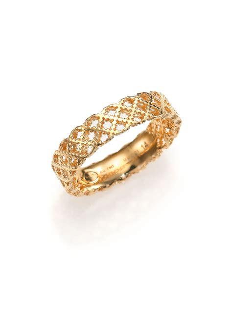 gucci diamantissima 18k yellow gold band ring in metallic
