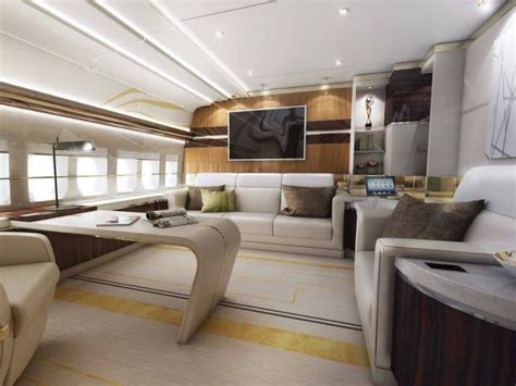 Boeing 747 Interior by Luxury Living Best Jet Interior Designs