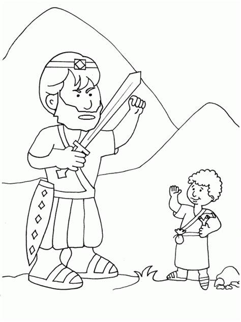 David Y Goliath Coloring Home David And Goliath Pictures To Color