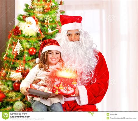 child and petprof xmas tree for children royalty free stock images image 35984189